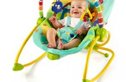 Яркий шезлонг для новорожденных Bright Starts «Прогулка в парке»