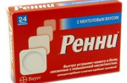 «Ренни» - вкусные таблетки помогающие избавиться от изжоги
