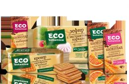 Вкусные нежные крекеры Eco Botanica от фабрики «Рот Фронт»