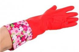 Хозяйственные перчатки с внутренним хлопковым напылением