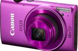 Стильный фотоаппарат Canon Ixus 255 hs