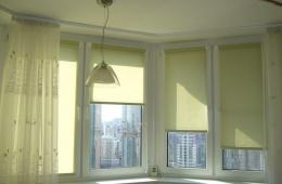 Дизайнерский вариант для окон - рулонные шторы