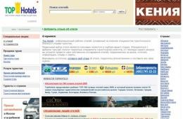Рейтинг отелей мира на Tophotels.ru