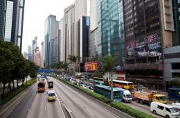 Высокотехнологичный город, как будто из будущего