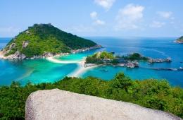 Три острова, соединенные белоснежной полосой пляжа