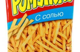 Чипсы Lorenz Pomsticks похожи на картофель фри