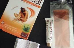 Восковые полоски для депиляции тела Sensual Comfort + тюбик с косметическим маслом