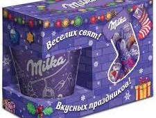 Детский новогодний подарок Milka