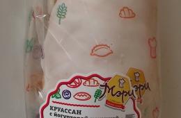 Круассан с йогуртом в невзрачной упаковке, но очень вкусный