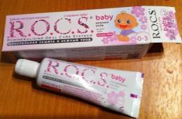 Детская зубная паста R.O.C.S. baby от 0 до 3 лет с ароматом липы
