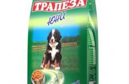 """Сухой корм для собак """"Трапеза Юни"""""""
