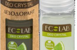 "Упаковка и флакон дезодоранта део кристалла Эколаб ""Цитрус"""