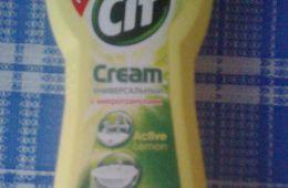 """Универсальный чистящий крем """"Cif"""" актив лимон с микрогранулами"""