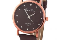 Симпатичные коричневые часы Aliexpress
