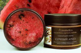 Отличное очищение и питание кожи сахарным скрабом с арбузным ароматом