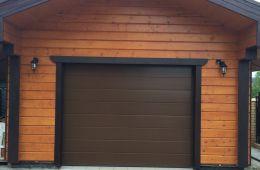 Установка автоматических ворот в гараж