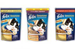 Огромная линейка кормов для кошек Felix придётся по вкусу даже привередливым пушистым особам