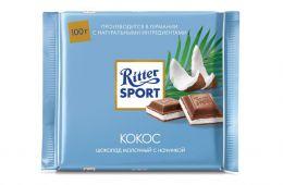 Шоколад Ritter Sport молочный с кокосом