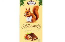 """Шоколад """"Белочка"""" с фундуком"""