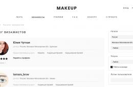 Каталог профессиональных визажистов с отзывами, контактами и портфолио