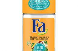 Роликовый дезодорант Fa без солей алюминия.