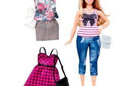 Шикарная кукла Барби с набором одежды