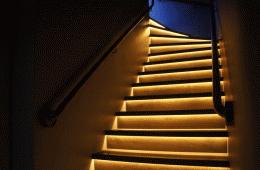 Купили у них освещение для своей лестницы