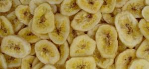 Как засушить бананы