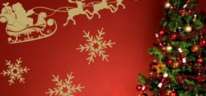 Как украсить стены для нового года