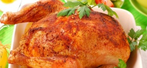 Как запечь курицу на соли