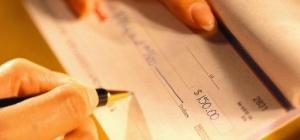 Как заполнить банковский чек