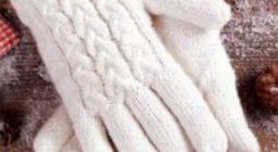 Как вязать перчатки спицами
