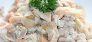 Как приготовить салат с грибами