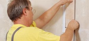 Как крепить гипсокартон к стене