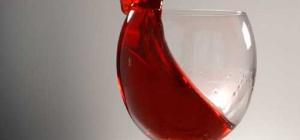 Как отстирать вино