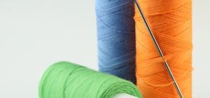 Как вставить нитку