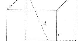 Как найти диагональ прямоугольного параллелепипеда