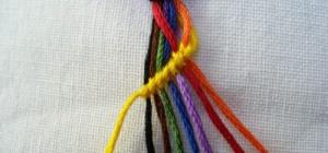 Как плести фенечки из ниток для начинающих