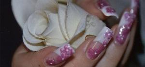 Как нарисовать розу на ногтях