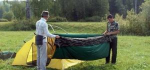 Как складывать палатку
