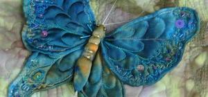 Как сделать из ткани бабочку
