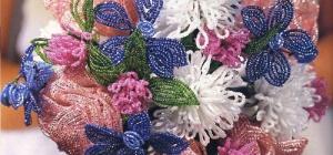Как плести из бисера цветы