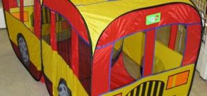 Как собрать детскую палатку