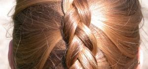 Как заплести волосы средней длины