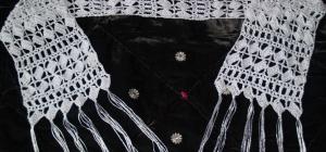 Как связать ажурный шарф на спицах