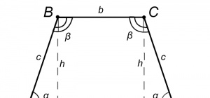 Как найти высоту равнобедренной трапеции