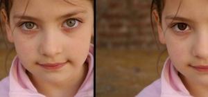 Как поменять цвет глаз в русском фотошопе