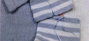 Как вязать детские штанишки