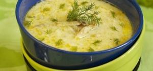 Как готовить рыбный суп с зеленым горошком