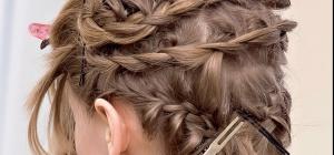 Как заплести косички на коротких волосах